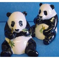 QUAIL GIANT PANDA SALT & PEPPER SET