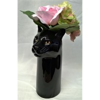 QUAIL BLACK PANTHER FLOWER VASE