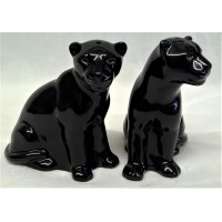 QUAIL BLACK PANTHER SALT & PEPPER SET