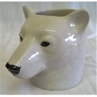 QUAIL POLAR BEAR PENCIL POT, DESK TIDY OR VASE