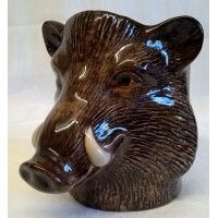 QUAIL WILD BOAR PENCIL POT, DESK TIDY OR VASE