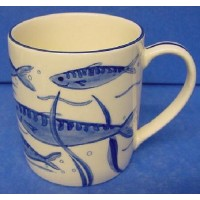 QUAIL BLUE & WHITE MUG - MACKEREL