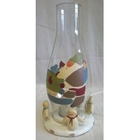 RUSS BONNIE LYNN PEACE IN THE MEADOW CHRISTMAS COLLECTION – HURRICANE LAMP VOTIVE HOLDER