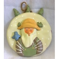 RUSS BONNIE LYNN PEACE IN THE MEADOW CHRISTMAS COLLECTION – SANTA PLAQUE