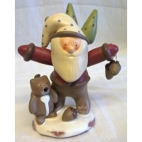 RUSS BONNIE LYNN PEACE IN THE MEADOW CHRISTMAS COLLECTION – SANTA, ACORNS & SQUIRREL FIGURE