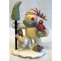 RUSS BONNIE LYNN PEACE IN THE MEADOW CHRISTMAS COLLECTION – SNOWMAN, BIRD & RABBIT FIGURE