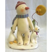 RUSS BONNIE LYNN PEACE IN THE MEADOW CHRISTMAS COLLECTION – SNOWMAN, SUN, TREES, GOOSE & TEDDY FIGURE