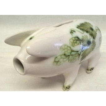 RYE POTTERY TRADITIONAL KENT & SUSSEX HOPS DESIGN PIGGY BANK