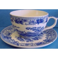 SPODE BLUE ROOM JUMBO CUP & SAUCER – AESOP'S FABLES