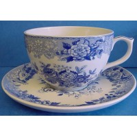 SPODE BLUE ROOM JUMBO CUP & SAUCER – BLUE ROSE