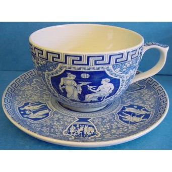 SPODE BLUE ROOM JUMBO CUP & SAUCER – GREEK