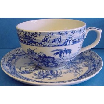 SPODE BLUE ROOM JUMBO CUP & SAUCER – INDIAN SPORTING