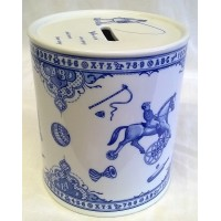 SPODE BLUE & WHITE EDWARDIAN CHILDHOOD MONEYBOX