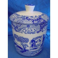SPODE BLUE ITALIAN KITCHEN STORAGE JAR - 2 PINTS