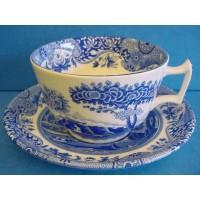 SPODE BLUE ITALIAN BREAKFAST CUP & SAUCER