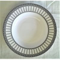 SPODE NEW YORK ART DECO STYLE PATTERN SOUP PLATE OR RIMMED BOWL