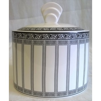 SPODE NEW YORK ART DECO STYLE PATTERN SUGAR BOX