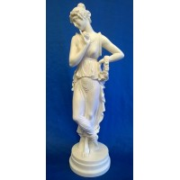 CLASSICAL GREEK ALABASTER FIGURE – PERSEPHONE, GODDESS OF SPRING & QUEEN OF THE UNDERWORLD – 37cm TALL