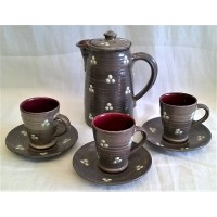 WILLIAM FISHLEY HOLLAND STUDIO POTTERY COFFEE SET