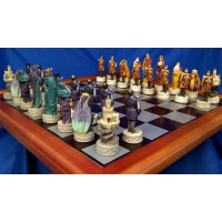 VERONESE DESIGN STUDIO – KING ARTHUR & THE KNIGHTS OF THE ROUND TABLE CHESS SET - SPECIAL OFFER - WAS £139.99