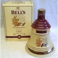 BELL'S WHISKY DECANTER – CHRISTMAS 1997 – FULL, SEALED & BOXED