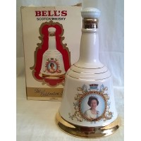BELL'S WHISKY DECANTER – QUEEN'S 60th BIRTHDAY – FULL & SEALED