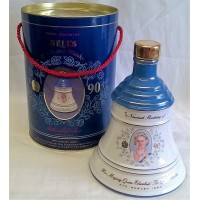 BELL'S WHISKY DECANTER – QUEEN MOTHER'S 90th BIRTHDAY – FULL, SEALED & BOXED