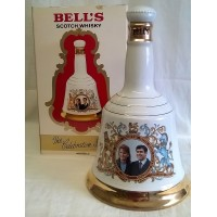 BELL'S WHISKY DECANTER – WEDDING OF PRINCE ANDREW & SARAH FERGUSON – FULL & SEALED