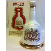 BELL'S WHISKY DECANTER – WEDDING OF PRINCE CHARLES & LADY DIANA SPENCER – FULL & SEALED