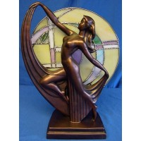 JULIANA COLD CAST BRONZE ART DECO LAMP