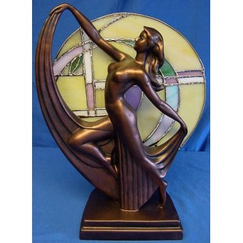 SPECIAL OFFER - NORMALLY £129.99 - JULIANA COLD CAST BRONZE ART DECO LAMP