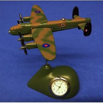 WILLIAM WIDDOP MINIATURE CLOCK – RAF LANCASTER BOMBER