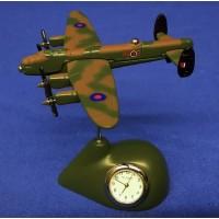 WILLIAM WIDDOP RAF MINIATURE CLOCK – LANCASTER BOMBER