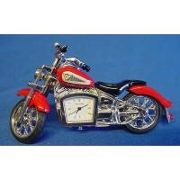 WILLIAM WIDDOP MINIATURE CLOCK – RED INDIAN MOTORCYCLE