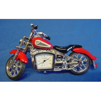 WILLIAM WIDDOP MINIATURE CLOCK – RED INDIAN MOTORCYCLE