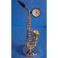 WILLIAM WIDDOP MINIATURE CLOCK – SAXOPHONE