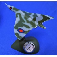 WILLIAM WIDDOP MINIATURE CLOCK – RAF VULCAN BOMBER