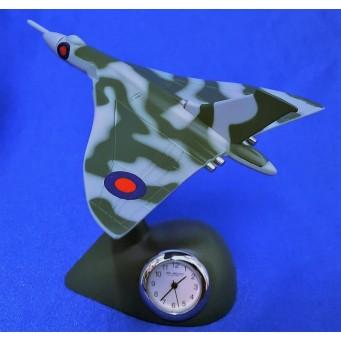 WILLIAM WIDDOP RAF MINIATURE CLOCK – VULCAN BOMBER