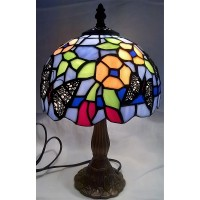 JULIANA HOME LIVING TIFFANY STYLE BUTTERFLIES DESIGN LAMP