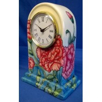 OLD TUPTON WARE CARNATION MANTEL CLOCK