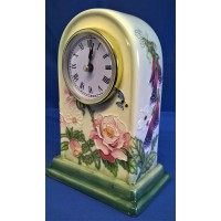 OLD TUPTON WARE ENGLISH GARDEN MANTEL CLOCK