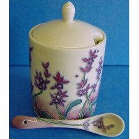 OLD TUPTON WARE LAVENDER MARMALADE JAR & SPOON SET