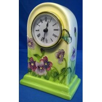 OLD TUPTON WARE PRIMROSE & BUTTERFLY MANTEL CLOCK