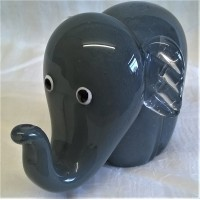 JULIANA OBJETS D'ART ART GLASS ELEPHANT – GREY