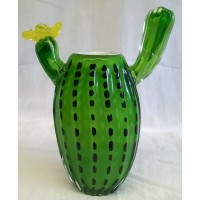 JULIANA OBJETS D'ART ART GLASS CACTUS VASE OR PAPERWEIGHT