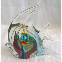 JULIANA OBJETS D'ART ART GLASS ANGEL FISH 60337B