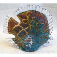 JULIANA OBJETS D'ART ART GLASS BUTTERFLY FISH (A)