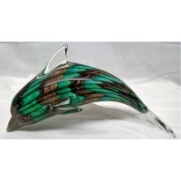 JULIANA OBJETS D'ART ART GLASS DOLPHIN OR PORPOISE 60278B