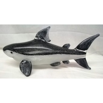 JULIANA OBJETS D'ART ART GLASS SHARK – LARGE GREY SHARK