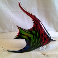 JULIANA OBJETS D'ART ART GLASS ANGEL FISH